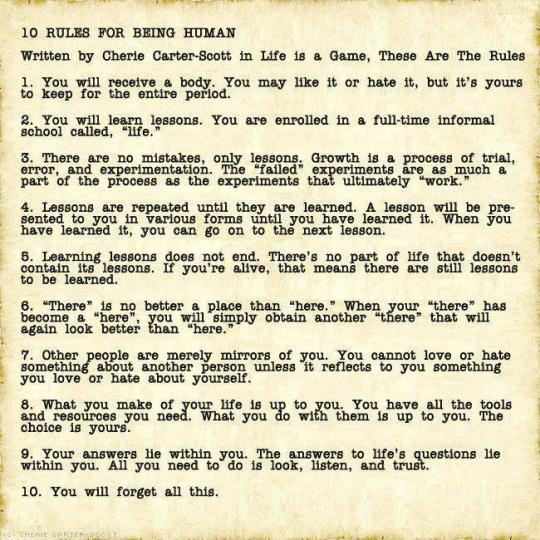 10 Rules for Being Human